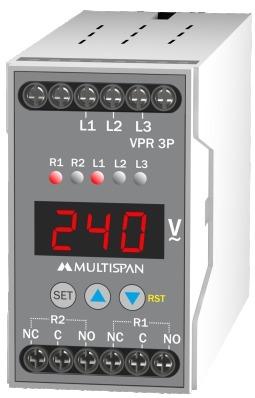 Rơ le bảo vệ điện áp và tần số 3 pha